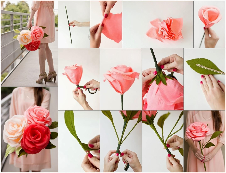 Crepe Paper Roses Diy