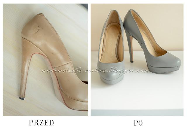 DIY: farbowanie butów (czółenek, szpilek) ze skóry naturalnej