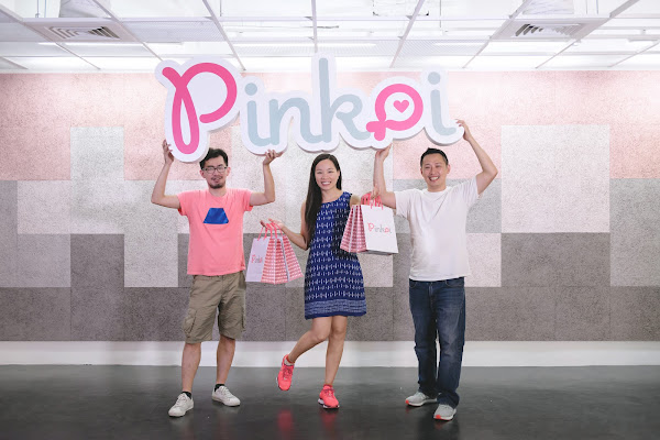 Pinkoi共同創辦人顏君庭(Peter Yen)、林怡君(Maibelle Lin)、李讓(Mike Lee)。