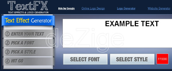 logo generator teks