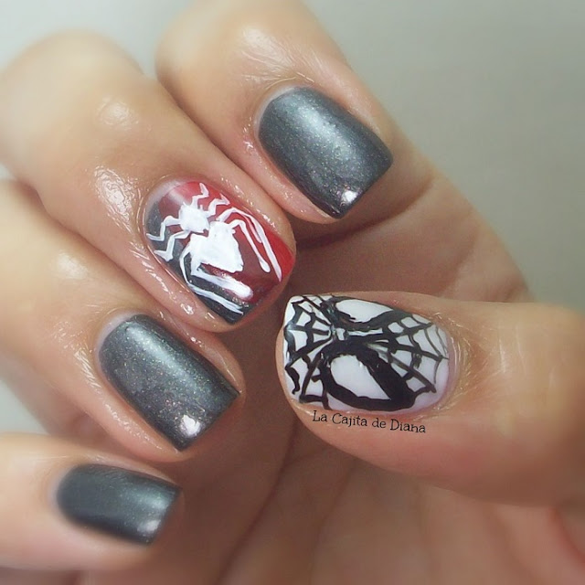 spiderman-nailart
