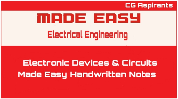 Download Electronic Devices & Circuits Made Easy 2019 Handwritten Notes Pdf