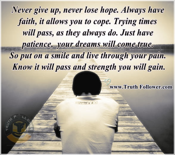 Never Giving Up Quotes: Never Give Up, Never Lose Hope