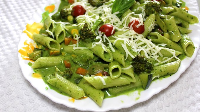 Healthy Spinach Pasta With Exotic Vegetables