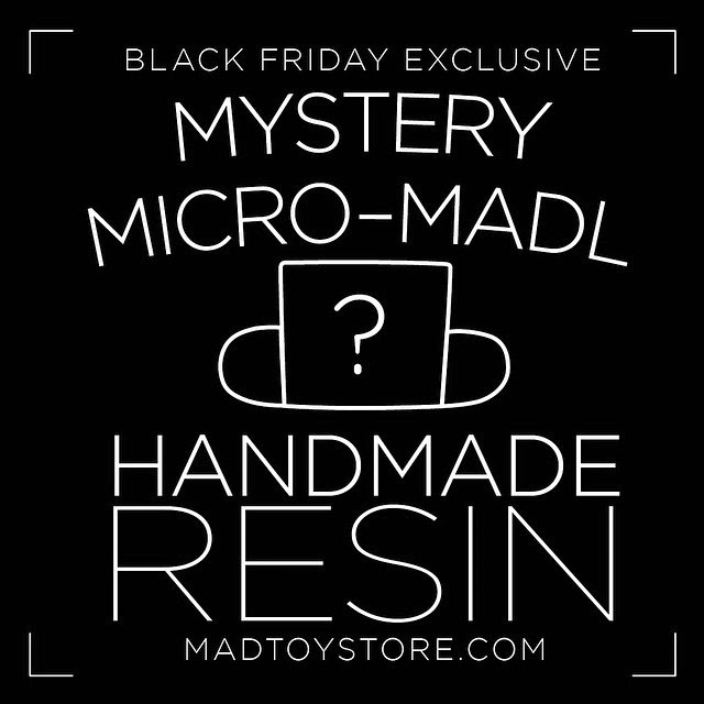 Black Friday Exclusive Micro Mad*l Resin Figure Blind Bags by MAD