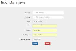 Cara Membuat Autonumber di php dan mysqli dengan fungsi on change