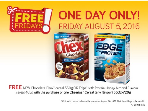 *Reminder* Chocolate Chex or Edge Free Cereal Coupon