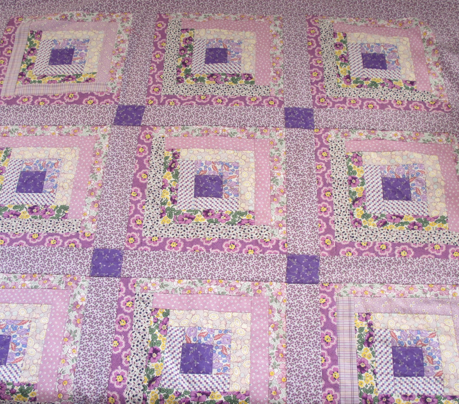 Sentimental Baby Log Cabin Quilt And 1930s Reproduction