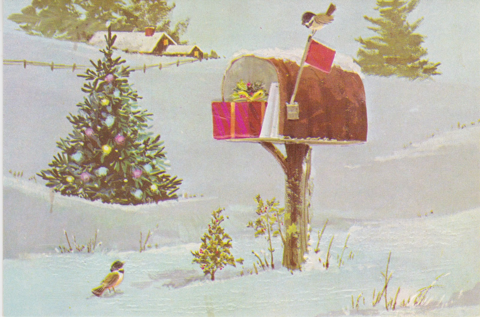 Mrs T S Christmas Kitchen Another Mailbox Card