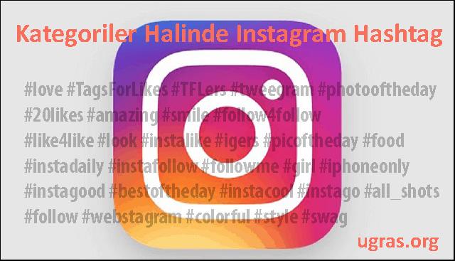 Kategoriler Halinde Instagram Hashtag