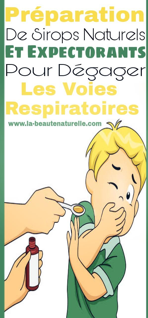 Préparation de sirops naturels et expectorants pour dégager les voies respiratoires