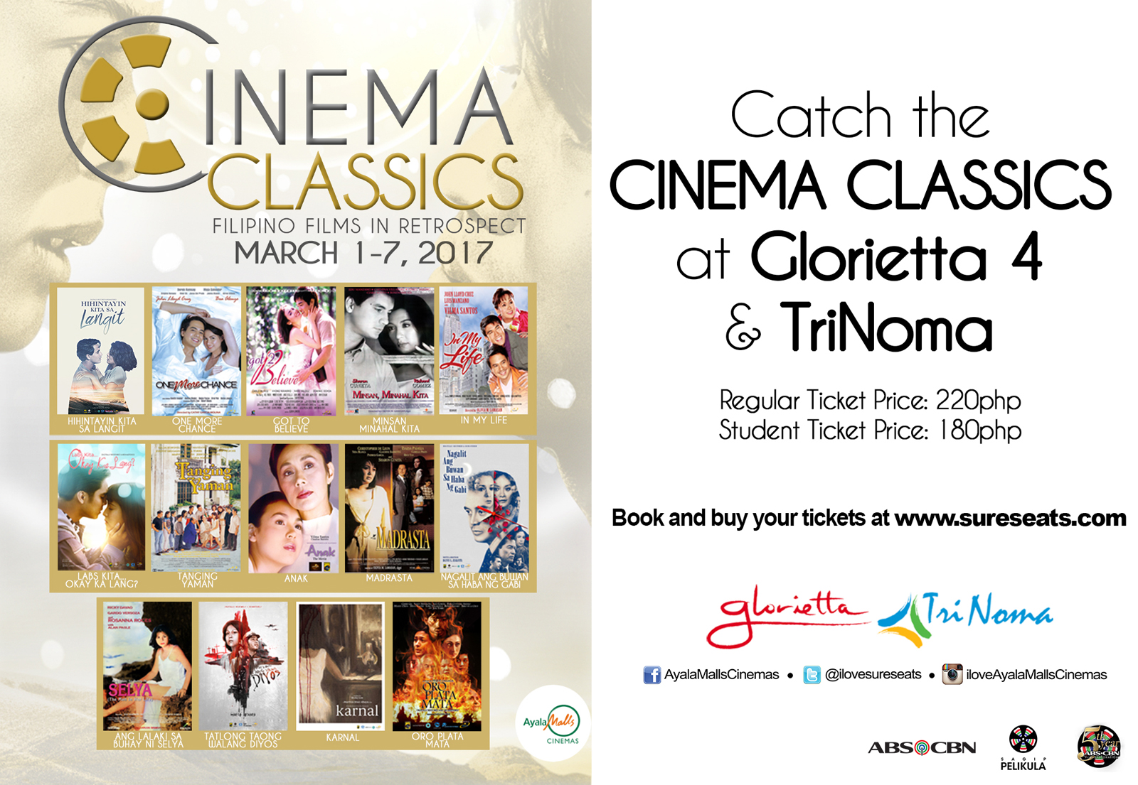 Manila life february 2017 after the success of the cinema classics at up town center early this january ayala malls cinemas in partnership with abs cbn film restorations group stopboris Gallery
