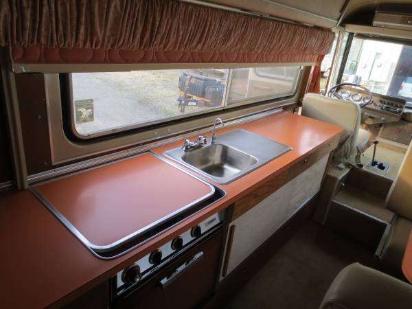 upper kitchen cabinets black bench for table used rvs original clark cortez motorhome sale by owner