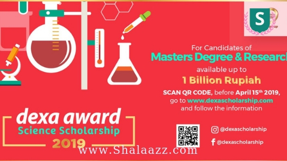 Beasiswa S2 Dexa Award Science Scholarship 2019/2020