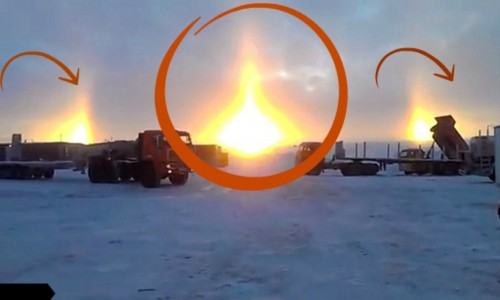 بالصورظاهرة غريبة تتسبب في ظهور ثلاثة شموس في شرق روسيا
