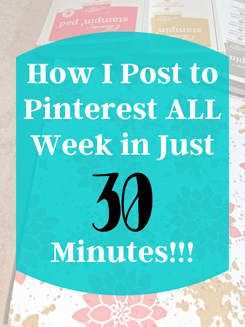 How I Post to Pinterest ALL Week in Just 30 Minutes