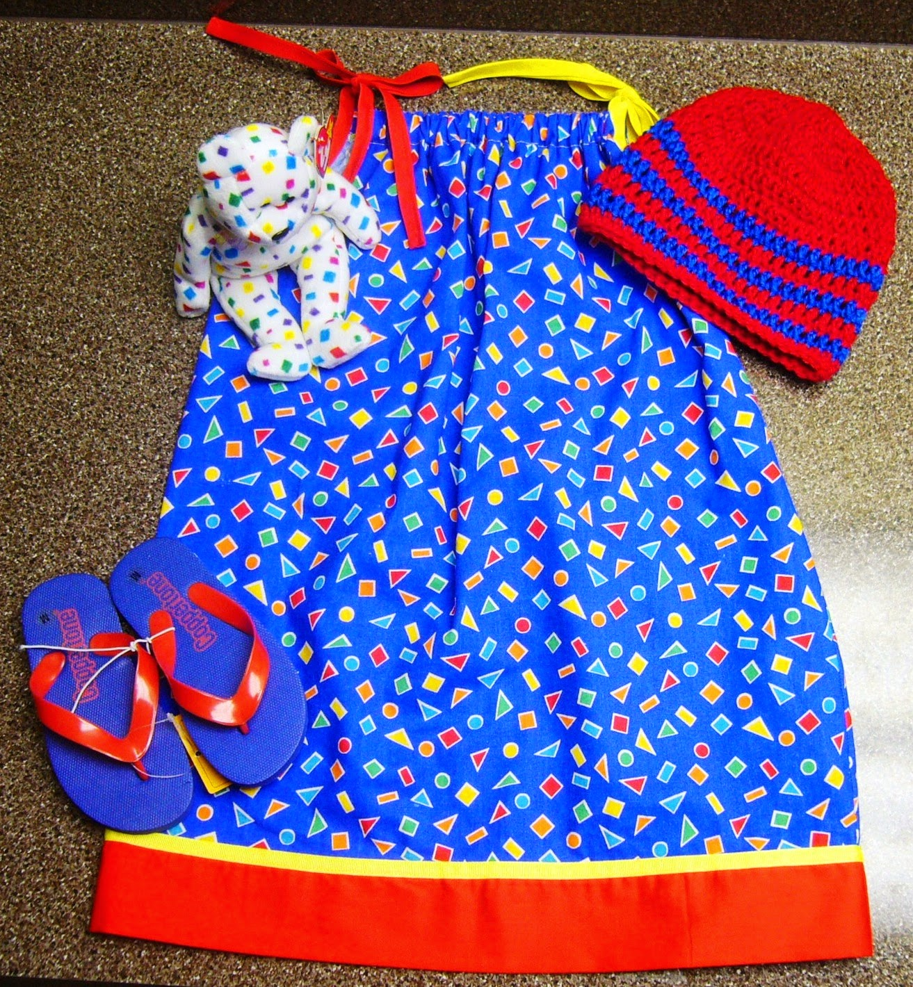 Pillowcase dress for Operation Christmas Child shoebox.