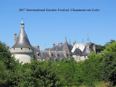 The towers of the chateau at Chaumont-sur-Loire popping up over the trees