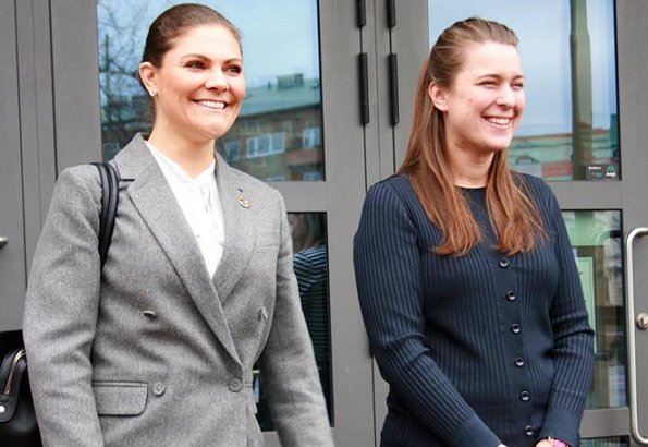 Princess Victoria wore ERDEM and H&M Wool Pantsuit. Erdem and H&M Collaboration