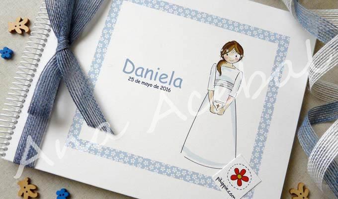 libro firmas comunion personalizado niña