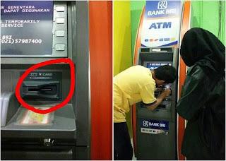 ATM BRI Irian Supermarket Tembung Waspada kalo mau ngambil ATM