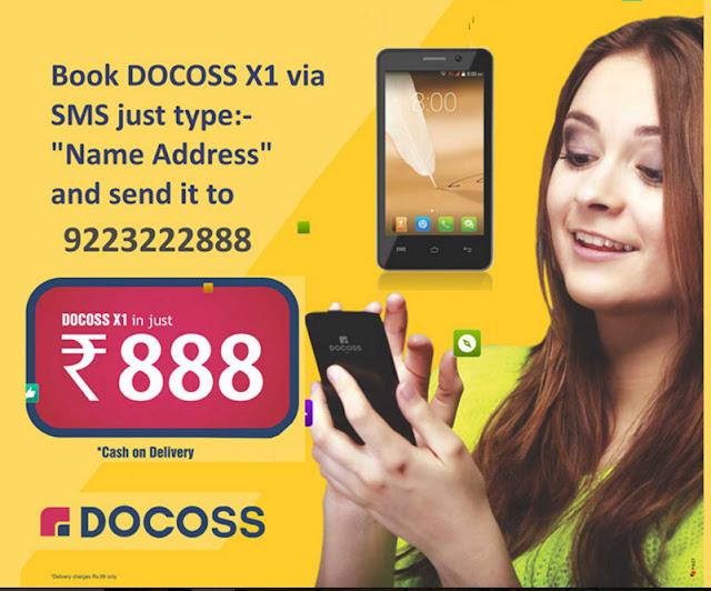 DOCOSS X1 Smartphone Booking