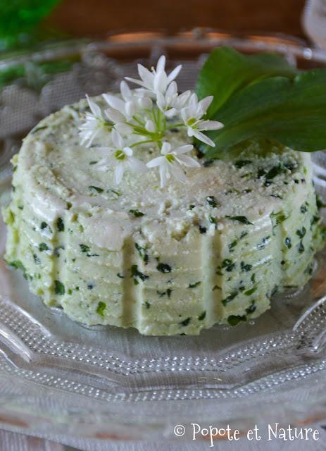 fromage frais à l'ail des ours © Popote et Nature