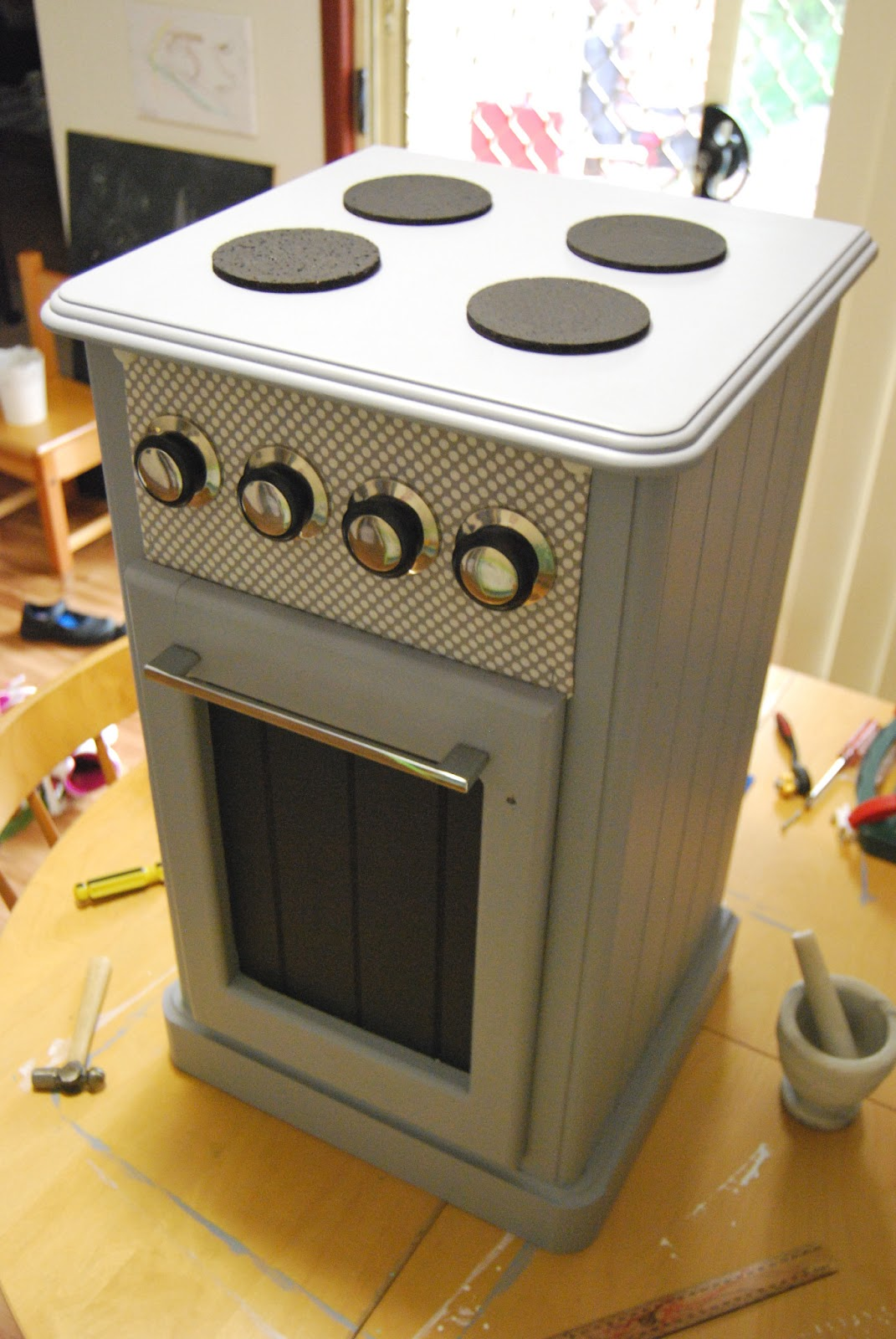 A Little Learning For Two Play Oven Stove Project