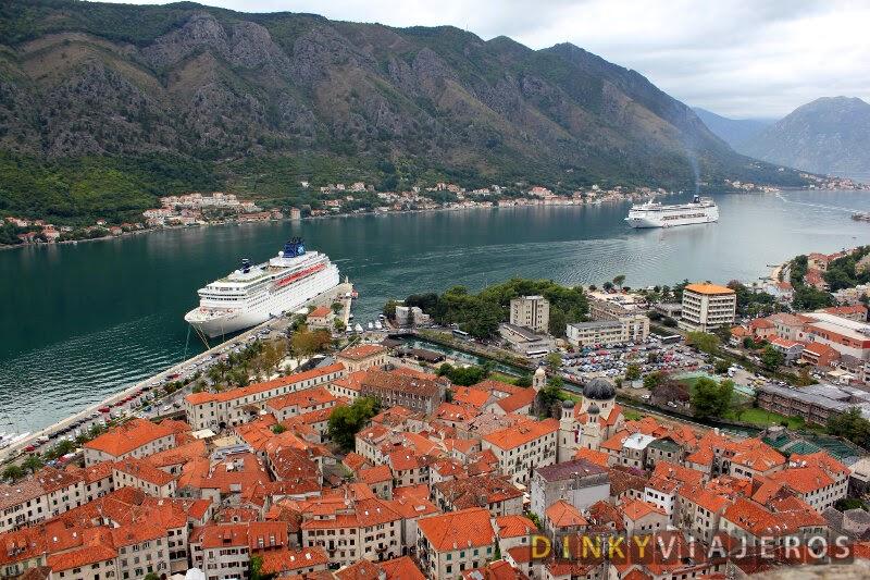 Qué ver en Kotor. Vistas de la ciudad desde la subida a la Fortaleza San Juan