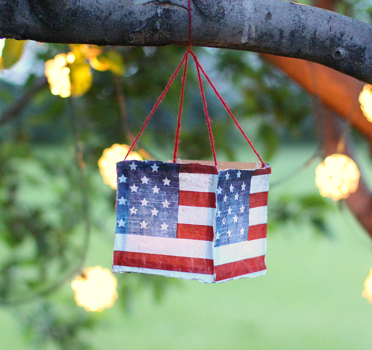 DIY Fourth of July Luminary Craft