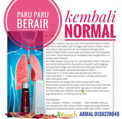 Alhamdulillah, syukur masalah paru-paru berair suami kembali normal