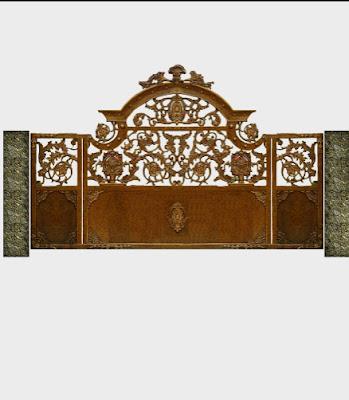 pintu gerbang besi tempa adalah gerbang klasik