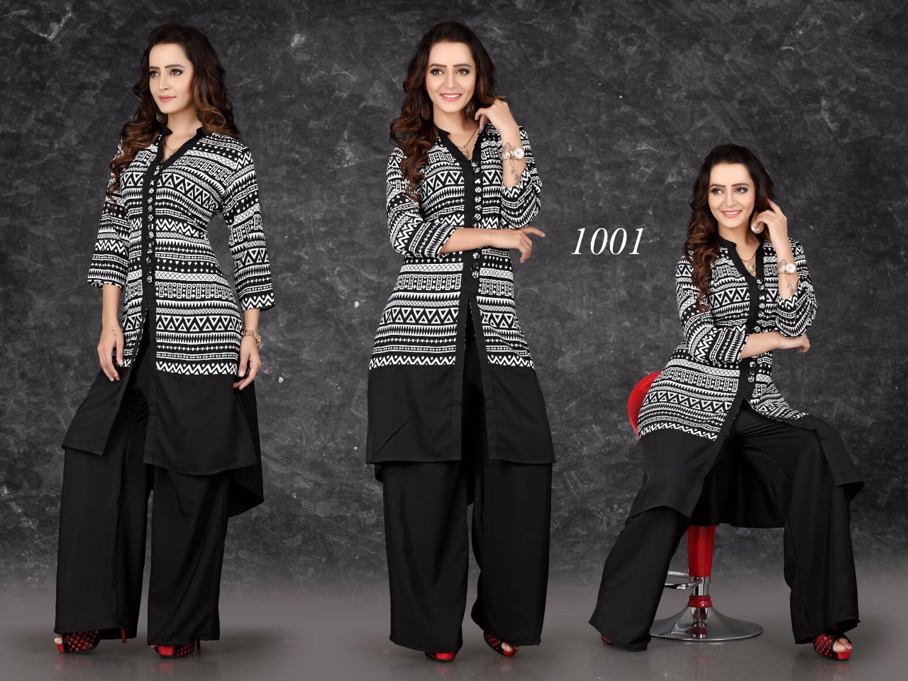 Checkmate 2 – Stylish Roman Crepe Fashion Kurta and Palazzo