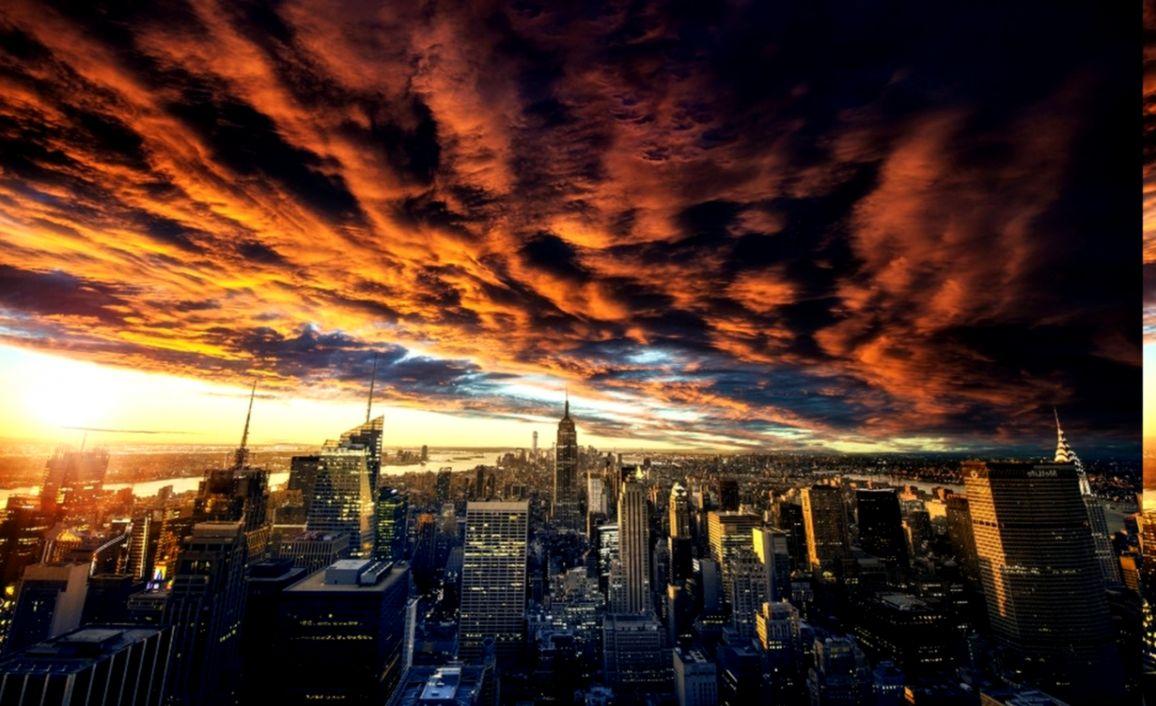 nature landscape clouds sunset new york city cityscape