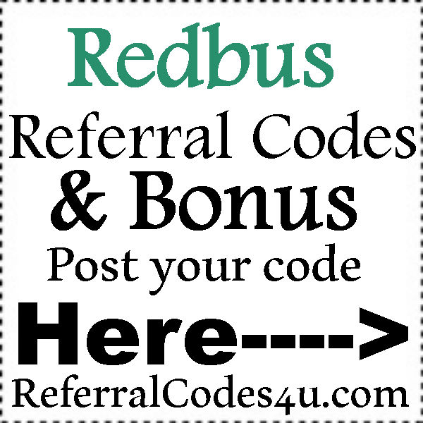 Redbus Referral Code 2016-2017, Redbus Refer A Friend, Redbus Coupons July, August, September