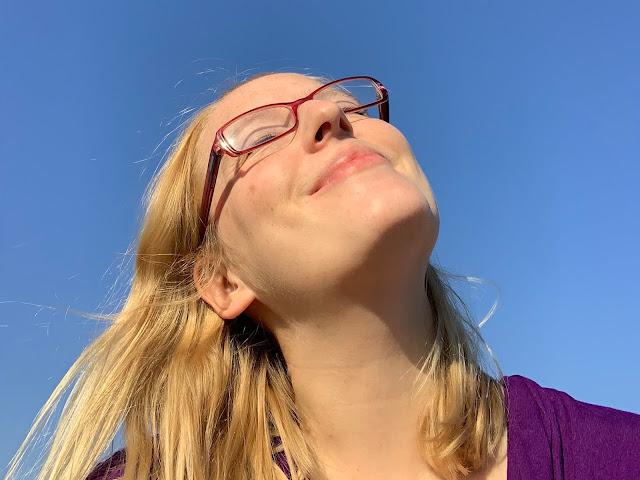 Me worshipping the sun