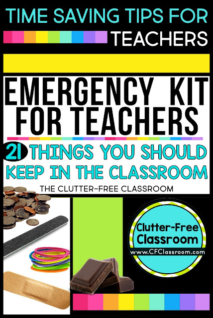 There's nothing worse than not having something you desperately need when in your classroom. That's why you need a teacher emergency kit. There are plenty of kits you can buy out there, but I prefer the DIY version. See everything a veteran teacher feels you need to get started. This is a great teacher gift, perfect for back to school or ANY time of year. Teachers at all grade levels will appreciate having one of these on hand.