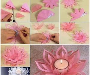 Cómo hacer un centro de mesa floral con vela en el centro