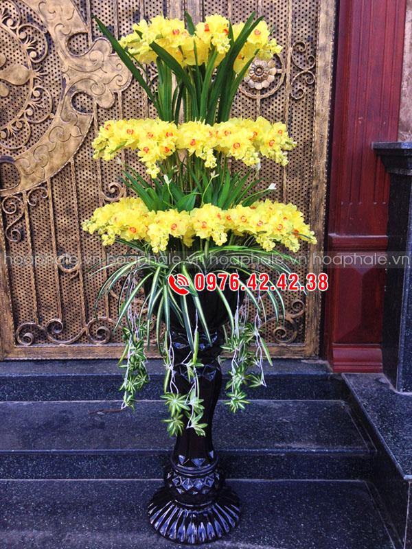 Mẫu hoa pha lê - Hoa lan 3 tầng
