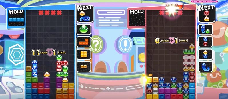 Puyo Puyo Tetris nos enseña el tutorial del modo intercambio y del modo fusión