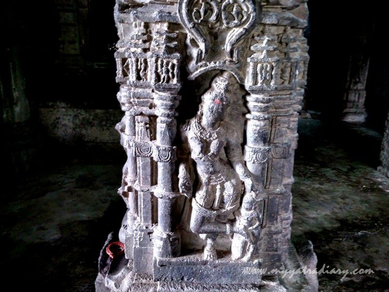 Ornate stone work at Gondeshwar Temple in Sinnar near Nashik, Maharashtra