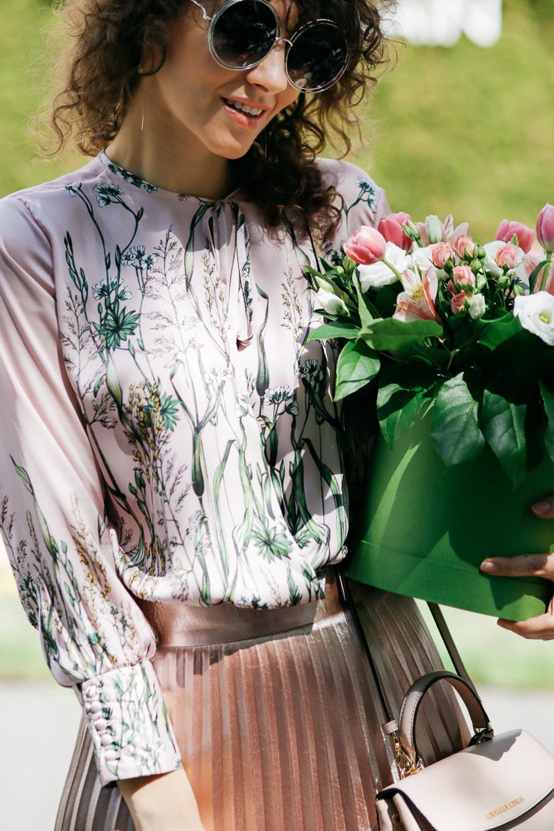 цветы в одежде как носить