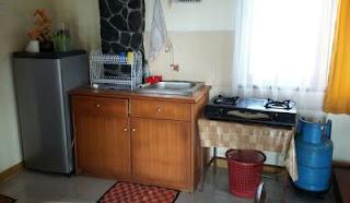 Peralatan memasak di villa