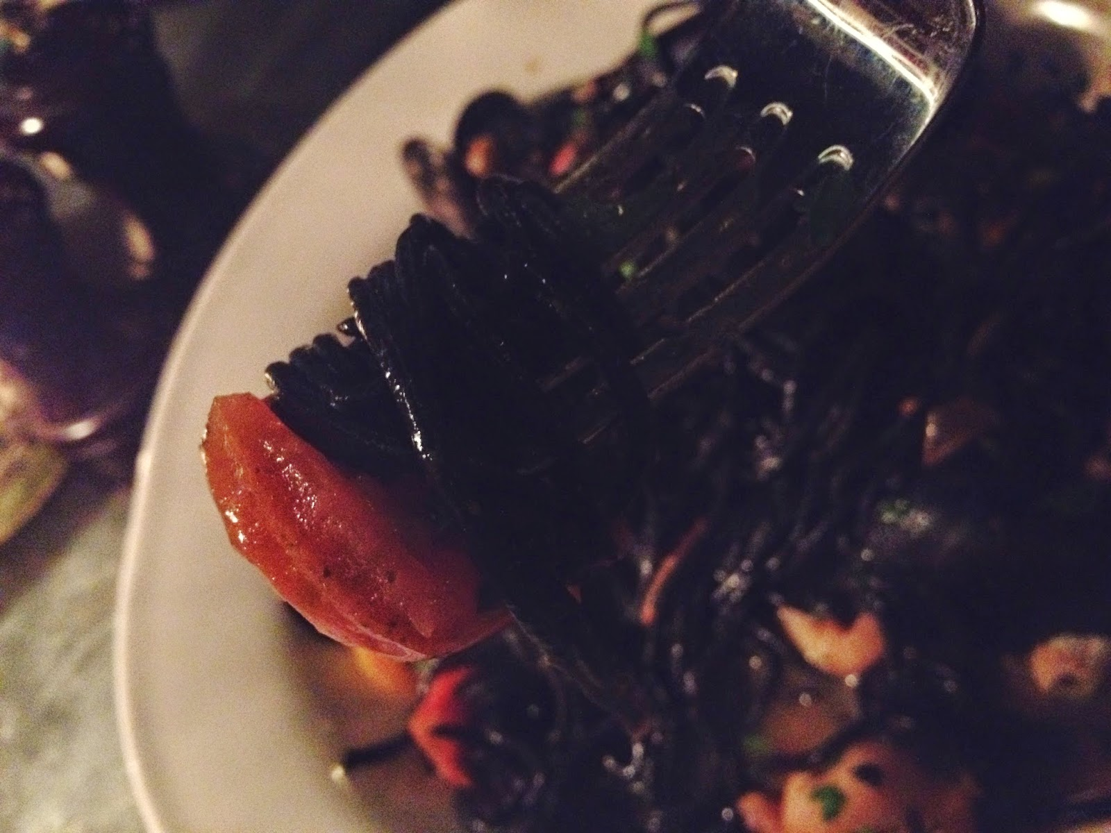 Jamie's Italian Aberdeen restaurant review spaghetti nero