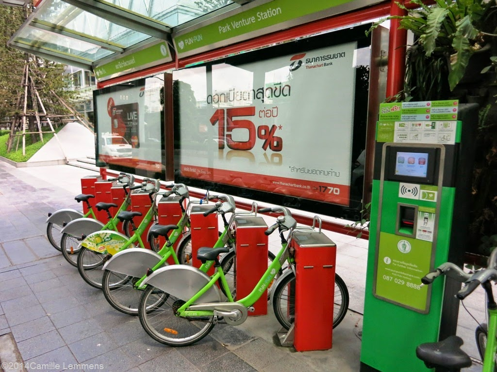 Green bike project at Ploenchit in Bangkok