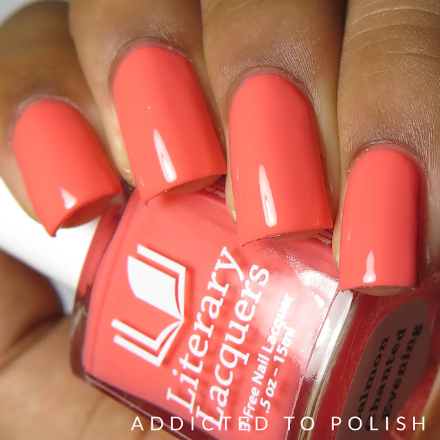 literary lacquers salmon chanted evening creme a la mode box spring 2016