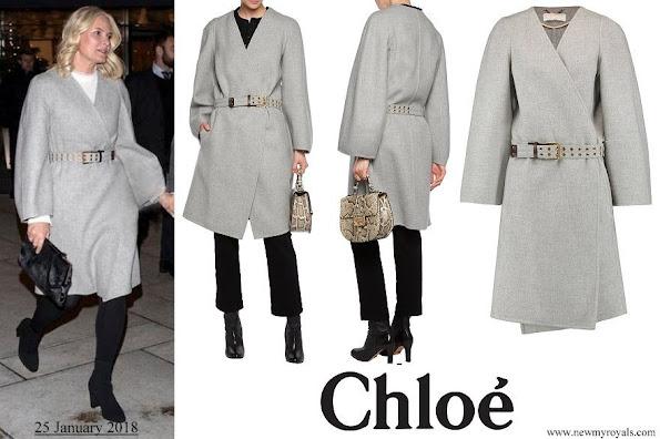 Crown Princess Mette Marit wore Chloe wool Coat