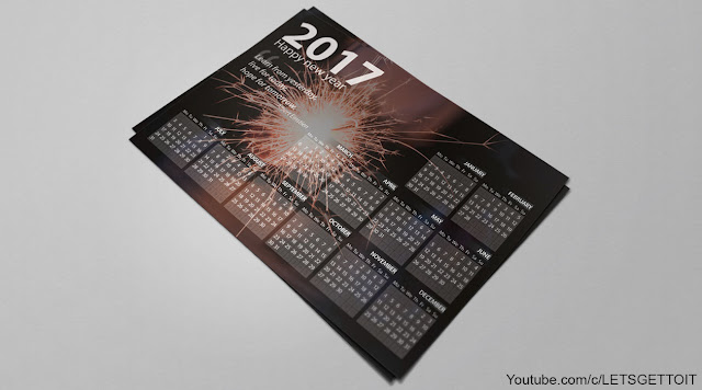 How to Make a Professional Calendar in Photoshop_Preview 1