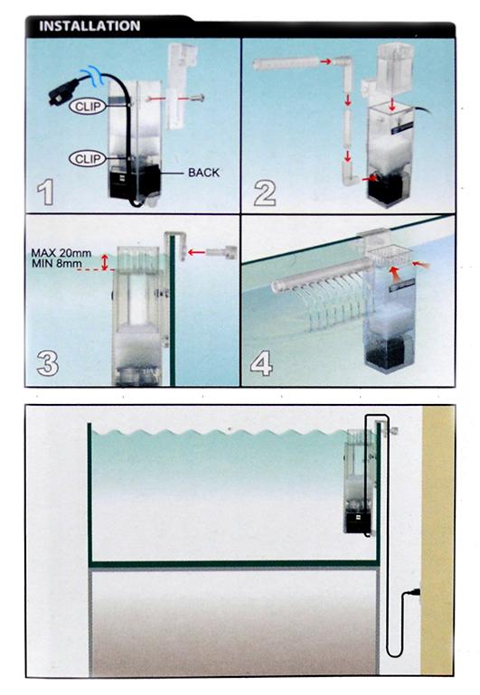 cách thiết lập lọc váng odyssea cho hồ thủy sinh