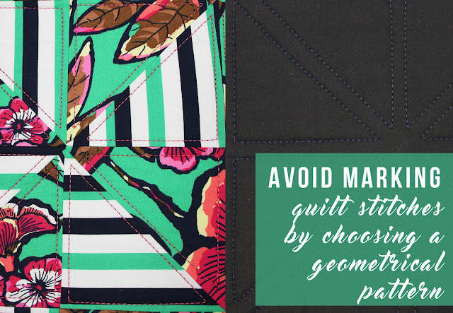 Avoid marking quilt stitches by choosing a geometrical pattern